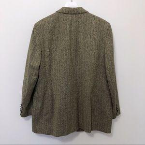Lauren Ralph Lauren Jackets & Coats - Lauren Ralph Lauren Silk Herringbone Blazer Sz 16W
